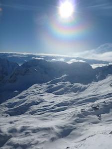 Zugspitze Wolken Sonne Farbring