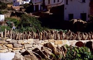 Maestrazgo Iglesuela del Cid Steinmauer