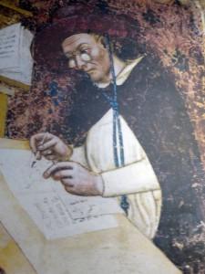 Gemaelde Schreiber mit Zwicker