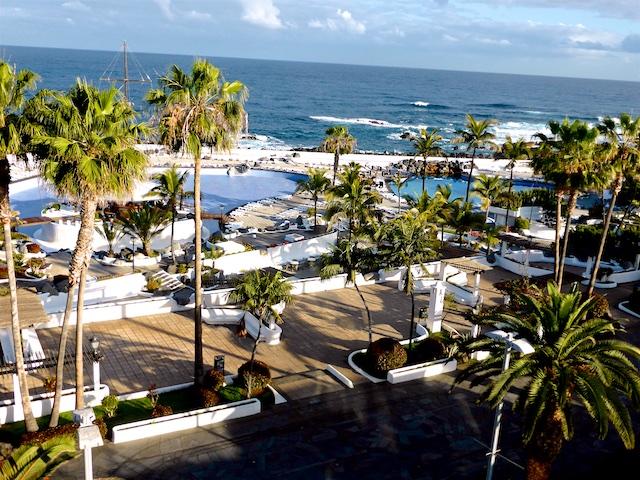 Teneriffa Puerto de la Cruz Blick vom Hotelbalkon 2016-03-22 Foto Elke Backert (1)